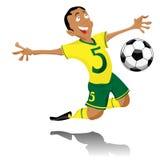 Comemoração preta do jogador de futebol ilustração do vetor