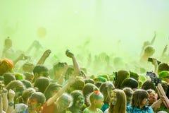 Comemorado como um festival das cores fotos de stock