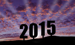 Comemorando 2015 Fotografia de Stock Royalty Free