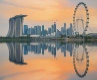 Comemorando aniversário de Singapura o 50th em Marina Bay em Singapura Fotografia de Stock