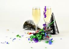 Comemorando anos novos Fotos de Stock Royalty Free