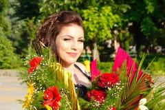 Comemorando flores da beleza Fotos de Stock Royalty Free