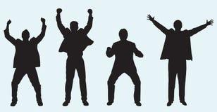 Comemorando homens de negócios Imagens de Stock Royalty Free