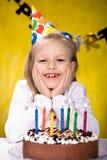 Comemorando o aniversário imagens de stock royalty free