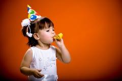 Comemorando o aniversário foto de stock royalty free