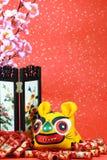 Comemorando o ano chinês do tigre imagem de stock