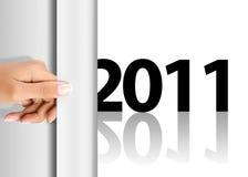 Comemorando o ano novo 2011 Foto de Stock
