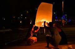 Comemorando o ano novo em Tailândia Foto de Stock