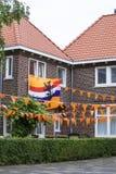 Comemorando o campeonato do futebol nos Países Baixos fotografia de stock royalty free
