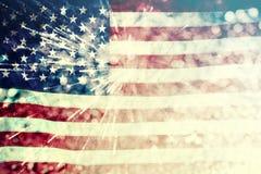 Comemorando o Dia da Independência nos E.U. Imagem de Stock