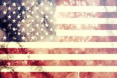 Comemorando o Dia da Independência nos E.U. Fotos de Stock Royalty Free