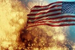 Comemorando o Dia da Independência nos E.U. Imagens de Stock Royalty Free
