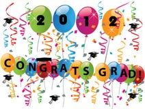 Comemorando o dia de graduação Imagem de Stock Royalty Free