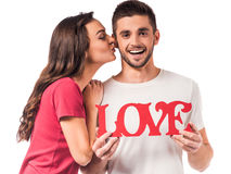 Comemorando o dia de Valentim imagens de stock royalty free
