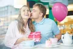 Comemorando o dia do Valentim Imagens de Stock