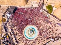 Comemorando o dia labour em Valletta, Malta Imagem de Stock
