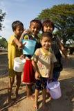 Comemorando o festival 2012 da água em Myanmar Foto de Stock Royalty Free