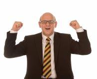 Comemorando o homem de negócios Foto de Stock Royalty Free