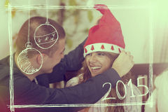 Comemorando o Natal Fotos de Stock Royalty Free