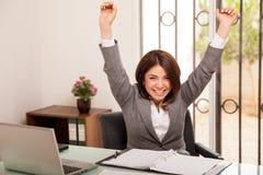 Comemorando o sucesso de negócio Imagem de Stock Royalty Free