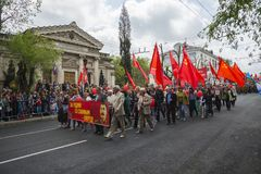 Comemorando Victory Day em Sevastopol Imagem de Stock