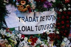 Comemoration θανάτου του βασιλιά Mihai της Ρουμανίας στοκ εικόνες