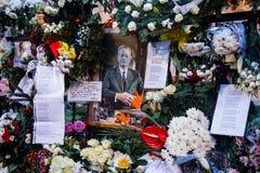 Comemoration de la muerte de rey Mihai de Rumania Foto de archivo libre de regalías