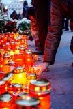 Comemoration de la muerte de rey Mihai de Rumania Imagen de archivo