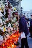 Comemoration de la muerte de rey Mihai de Rumania Fotografía de archivo libre de regalías