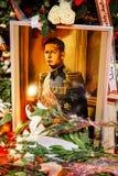 Comemoration di morte di re Mihai della Romania Fotografia Stock Libera da Diritti