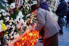 Comemoration di morte di re Mihai della Romania Fotografia Stock