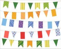 Comemore a bandeira Grupo da coleção das bandeiras do festival do partido ilustração stock