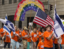 2015 comemore Israel Parade em New York City Fotos de Stock Royalty Free