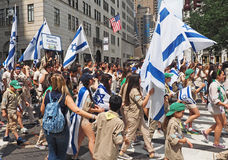 2015 comemore Israel Parade em New York City Foto de Stock