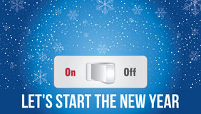 Comencemos el Año Nuevo Fotos de archivo