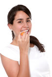 Comendo a cenoura Foto de Stock Royalty Free
