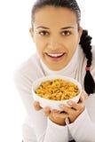 Comendo cornflakes Foto de Stock