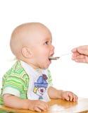 Comendo a criança Imagem de Stock Royalty Free