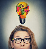 Comendo a ideia e o conceito saudáveis das pontas da dieta Imagens de Stock Royalty Free