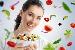 Comendo o alimento saudável Imagem de Stock