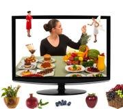 Comendo o alimento saudável Imagens de Stock Royalty Free