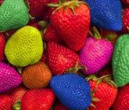 Comendo o arco-íris da cor imagens de stock
