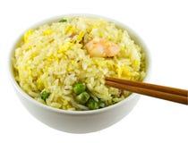 Comendo o arroz Foto de Stock