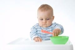 Comendo o bebê Fotografia de Stock Royalty Free