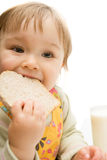 Comendo o bebê Foto de Stock Royalty Free