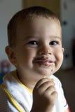 Comendo o chocolate imagem de stock royalty free