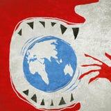 Comendo o conceito da ecologia do mundo Foto de Stock
