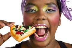 Comendo o fast food fotos de stock