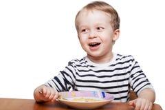 Comendo o pequeno almoço Fotos de Stock