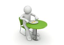 Comendo o pequeno almoço yummy ilustração royalty free